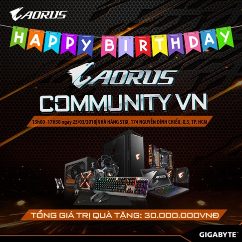 HAPPY BIRTHDAY AORUS COMMUNITY VN
