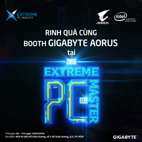 CHECK IN TẠI BOOTH GIGABYTE AORUS