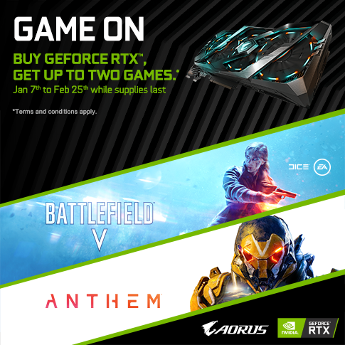 Buy a Qualifying GIGABYTE RTX 2080Ti, 2080 ,2070 and 2060 Graphics Card and get up to two Games! _APAC