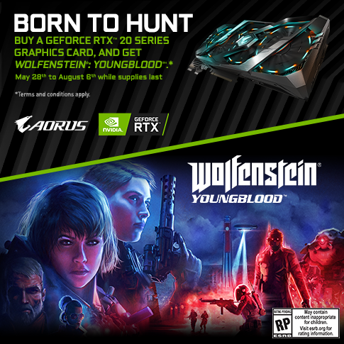Mua Card GIGABYTE RTX 20 Series - Nhận Wolfenstein: Youngblood