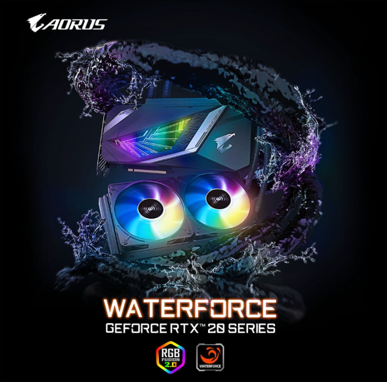 GIGABYTE ra mắt Card đồ họa  AORUS Waterforce GeForce®RTX 2080 SUPERTM